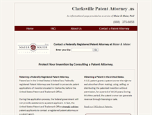 Tablet Preview of clarksvillepatentattorney.us